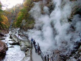 小安峡「大噴湯」秋田県湯沢市