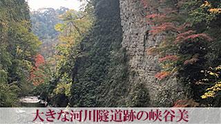 大きな河川隧道跡の峡谷美「弘文洞跡」養老渓谷 千葉県大多喜町