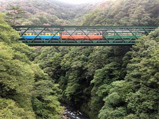 「出山の鉄橋」神奈川県箱根町