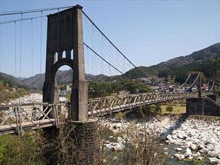 「桃介橋」長野県南木曽町