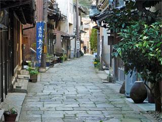 「青石畳通り」島根県松江市美保関町